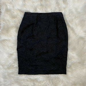 Escada Black Jacquard Skirt Size 40